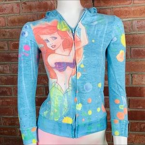 Disney Little Mermaid Ariel Underwater Hoodie USA